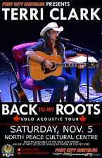 """TERRI CLARK """"BACK TO MY ROOTS TOUR"""" 2016 CANADA CONCERT POSTER - Country Music"""