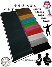 1x Red / Sports Gym Yoga Towel / 100%Cotton Soft Uni-Colour / Border / 30 x 90