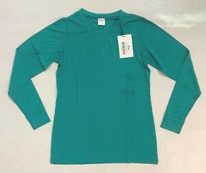 Zyia Active Women's Chill Perforated Long Sleeve T-Shirt SC4 Teal Small