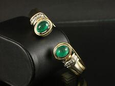 Kostbare Smaragd Brillant Armspange Armreif  71,6g 750/- Gelbgold/Weißgold