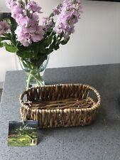 Wicker Basket Small Kitchen Storage Hamper Handmade BNWT