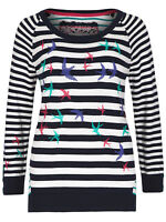 Per Una M&S navy blue and white striped knitted top  jumper UK 8 - 20 bird print
