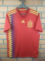 Spain Jersey 2018 2019 Home S Shirt CX5355 Football Adidas Soccer Trikot Maglia