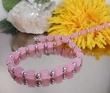 FRECHE Würfelkette Würfel ROSA matt  + METALLIC Perlen in ROSA