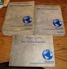 2001 Ford Mustang Shop Service Manual 1 & 2 + Wiring Diagrams Set 01