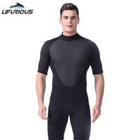 New 3mm Men Neoprene Professional Short Dive Suit Scuba Diving Surf Swim Wetsuit
