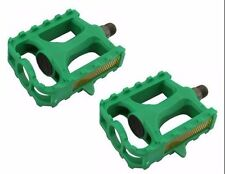 """M.T.B Pedals 861 9/16""""   GREEN bmx bicycle pedal.road bicycle pedal PLASTIC 9/16"""