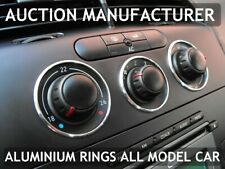 Seat Altea / XL 2004-2015 Aluminium Ringe für Lüftungsregler / Heizungsregler x3