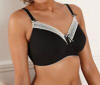 Royce Chloe Modal Caress Black/Cream Mastectomy (Pocketed) Soft Bra 981P