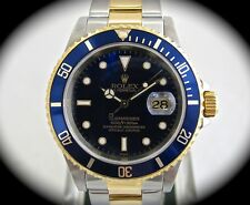 Rolex Submariner Stainless Steel/18k Yellow Gold Blue Dial 40mm 16613 A Serial