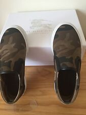 Burberry Boys Slip On Shoes Camouflage Size 12 30 New In Box