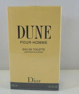 Dune Pour Homme Christian Dior 100ml 3.4 Oz Eau De Toilette Spray New Sealed Box