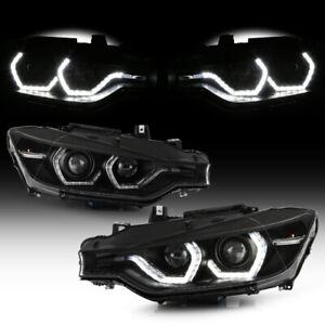 {F32 M3 STYLE} For 12-15 BMW F30 4DR Model w/AFS 3D LED Halo Projector Headlight
