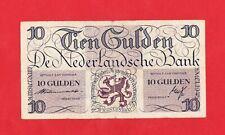 10 Gulden von 1945, Original Banknote in *gebrauchter* Erhaltung!