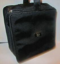 100%Genuine CDior Beauty 2 Compartments Medium Travel Makeup Bag Vanity In Black