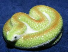 More details for klima miniature porcelain animal figure green snake m151