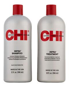 CHI Infra Shampoo 32 oz & Infra Treatment 32 oz. Hair Care Set