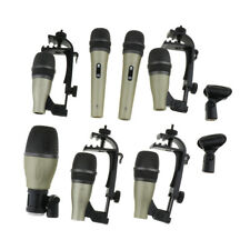 Finest 1 Pack Wired Drum Dynamic Microphones MIC with Case Stage Accessory