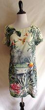 H&M Conscious Collection 4 Tropical Toucan Bird Rainforest Jungle Shift Dress