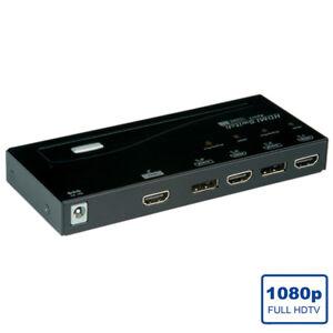 HDMI/DisplayPort Switch, 4fach - Auflösung, 1920 x 1080