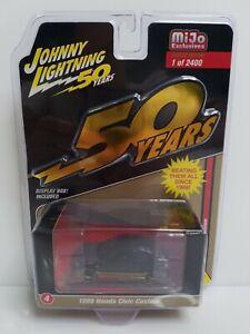 Johnny Lightning 50 Years 1998 Honda Civic Custom 1 Of 2400 Mijo Black Gold
