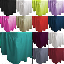 SINGLE SIZE PLAIN DYED FITTED VALANCE BED SHEET POLY-COTTON