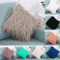 Plush Cashmere Throw Pillow Cases Home Decor Bed Sofa Waist Cushion Cover LIU9