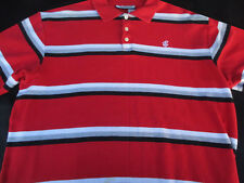 Rocawear Mens Pullover Knit Short Sleeve Cotton Stripe Polo Shirt X Large XL
