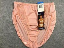NWT Vintage Vanity Fair Pink Nylon Spandex Hi-Cut Panties XL 48-136