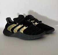 NWT Adidas Sobakov Boost Men's Size 9.5 Shoes Core Black Gold  Carbon D98155