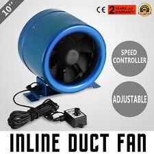 New 10 Inline Duct Fan w/Speed Controller Exhaust Blower Hydroponic Industrial