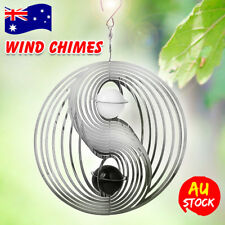 3D Wind Chime Windchime Spinner Spiral White Crystal Ball Church Home Decor AU