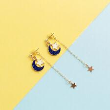 US SHIP Anime Sailor Moon Cute Luna Black Cat Earrings Star Moon Stud Cosplay