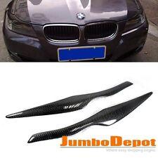 Carbon Fiber Eyelid Eyebrow Headlight Cover Trim Fit 06-11 BMW E90 325i 328i