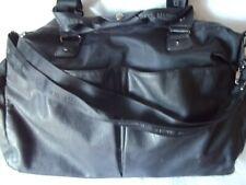 "Steve Madden Large Black Weekend Carryall Tote Nylon Shop Bag 20"" W x 15"" T x 7"""
