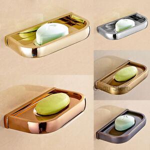 Simple Retro Brass Bathroom Shower Soap Shelf Wall Mount Soap Dish Case Holder