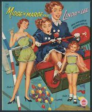 """Uncut """"MIDGE 'N' MARGE AND LINDA 'N' LEE"""" #1566 Merrill 1956 (7182)"""
