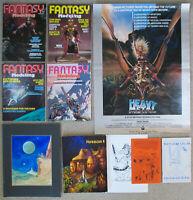 Vintage SCI-FI LOT Heavy Metal Poster Fantasy Modeling Discworld 1980 Program