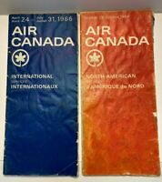 Vintage 1964-66 Air Canada Airlines International and North American Time Tables