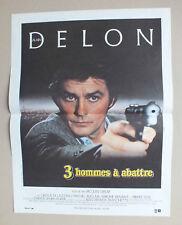 AFFICHETTE DE CINEMA 54 X 40 DU FILM 3 HOMMES A ABATTRE AVEC ALAIN DELON - 46