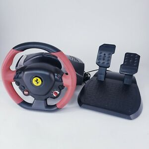 Thrustmaster Ferrari 458 Spider Racing Steering Wheel Pedals Set ~ Xbox One