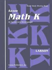 Saxon Math Kindergarten Home Study Meeting Book Grade K Homeschool Student