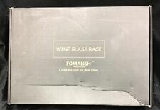 Fomansh Wine glass Rack For Kitchen, Black Under Cabinet Rack