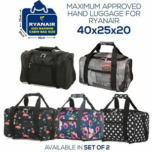 5 Cities 40x20x25 Ryanair Maximum Sized Cabin Bag Carry on Holdall Flight Bags
