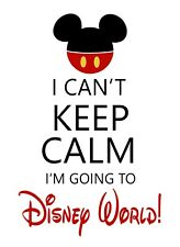 Keep Calm and Disney World STICKER DECAL VINYL BUMPER CAR Wall Locker Notebook
