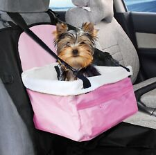Prime Paws Pink Folding Dog Travel Booster Bag Cat Puppy Pet Car Seat Carrier