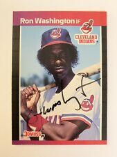 RON WASHINGTON CLEVELAND INDIANS AUTOGRAPHED 1989 DONRUSS #468 BASEBALL CARD
