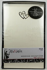 Hobby Lobby Studio His & Hers Blank Wedding Invitations and Replies 100 Count