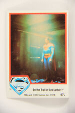 Non-sport Trading Cards The Infant Son Of Jor-el #74 Eng L006093 Superman The Movie 1978 Trading Card