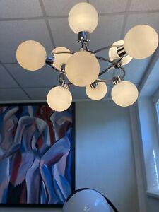 XL Sputnik 9er Space Age Lampe 70er UFO Design Orbit Deckenlampe